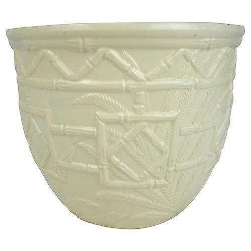 Bamboo Design Haeger Ceramic Planter