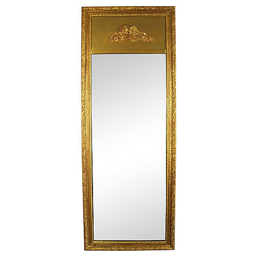 French-Style Trumeau Dressing Mirror