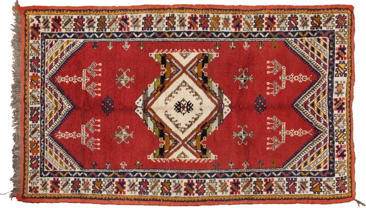 """Moroccan Berber Rug, 6'2"""" x 3'7"""""""