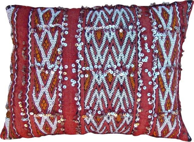 Orange & Red Moroccan Berber Sham