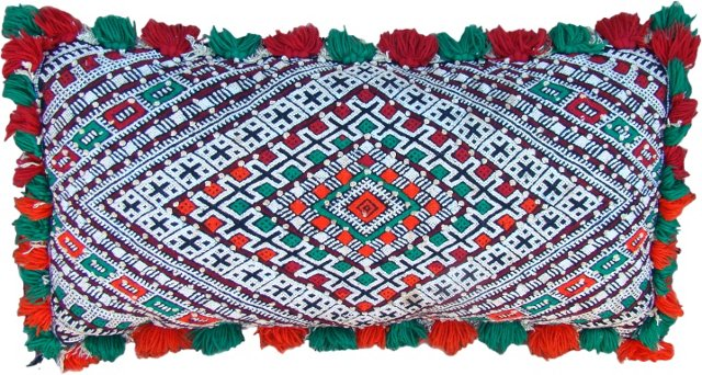 Red & Green Moroccan   Berber Sham
