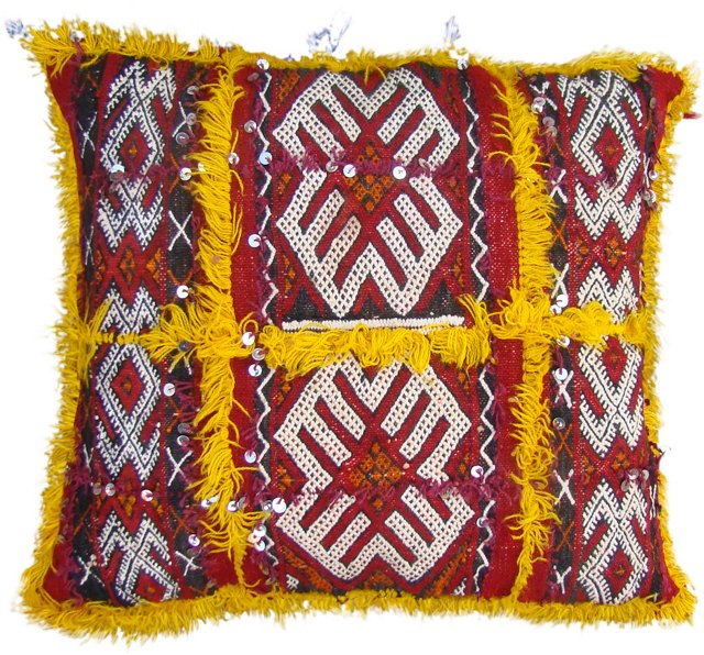 Yellow & Red Moroccan   Sham