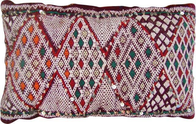 Red & Purple Moroccan Sham