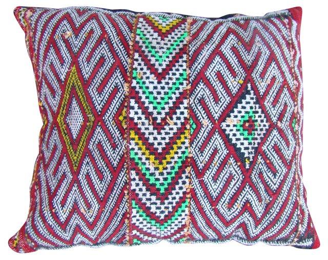 Red Diamonds Moroccan Berber Sham