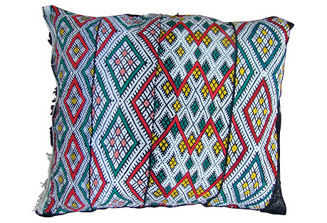 Moroccan  Red & Green Diamonds Sham