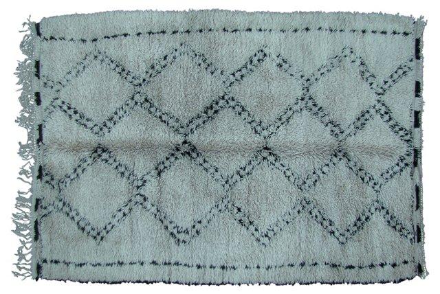 Beni Ourain Moroccan  Rug, 10' x 6'
