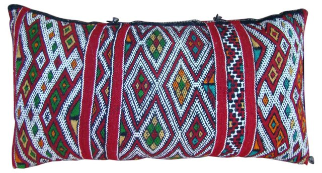 Red & White Moroccan Berber Sham