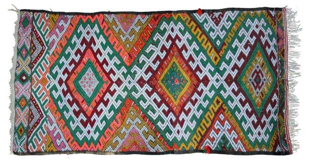 "Moroccan Colorful Rug, 6'2"" x 3'9"""