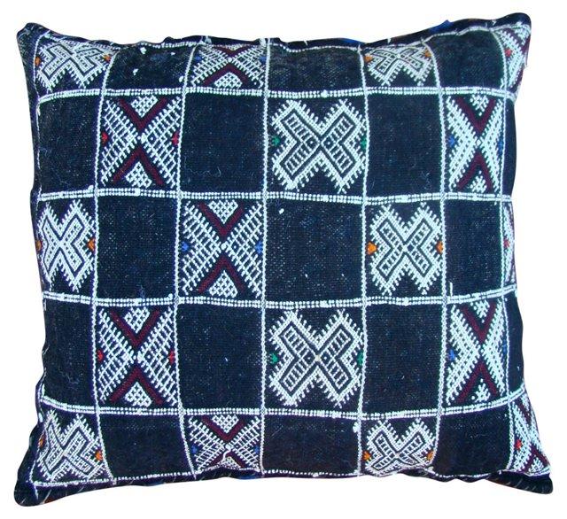 Moroccan Sham w/ Square Pattern