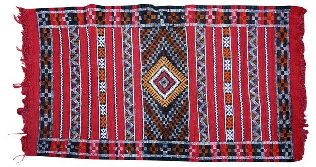 "Moroccan Rug, 4'3"" x 2'8"""