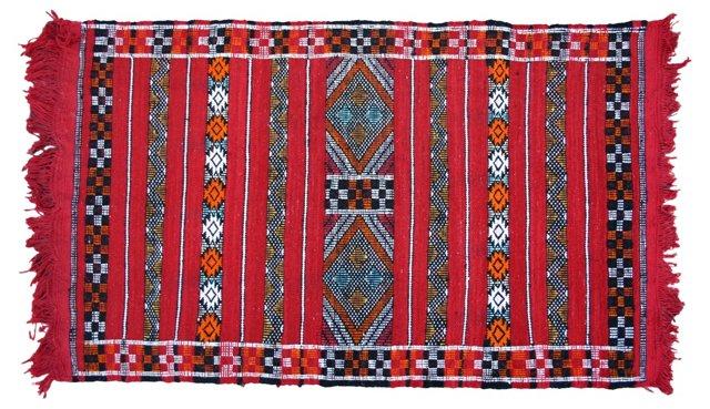"Moroccan Rug, 4' x 2'3"""