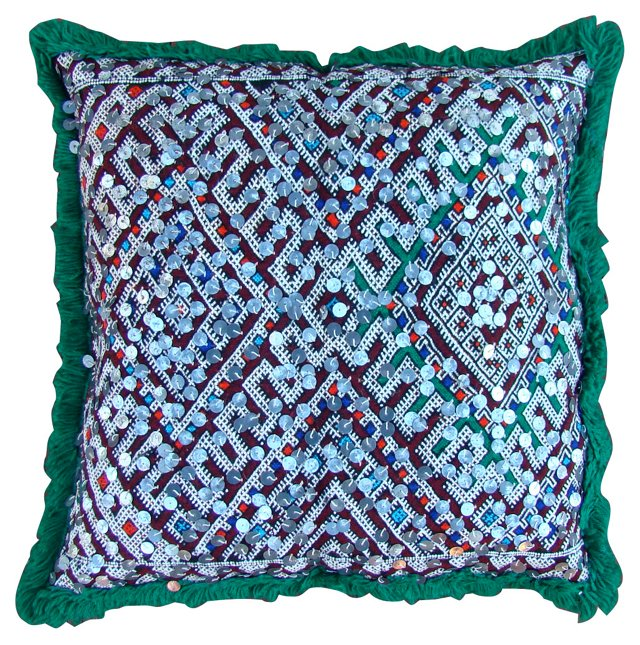 Green & Blue Diamonds Moroccan Sham