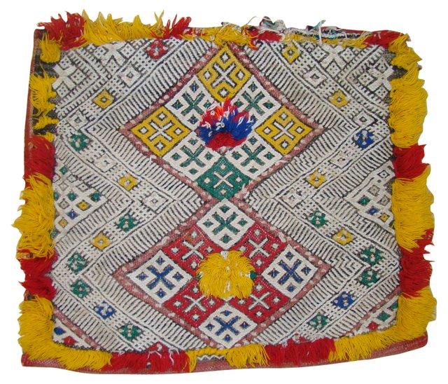 Yellow & Red Moroccan Berber Sham