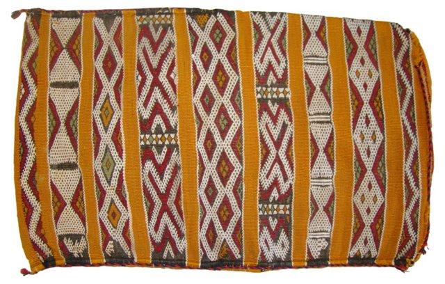 Moroccan Berber Sham w/ Orange Stripes