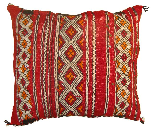 Moroccan Sham w/ Diamond Stripes