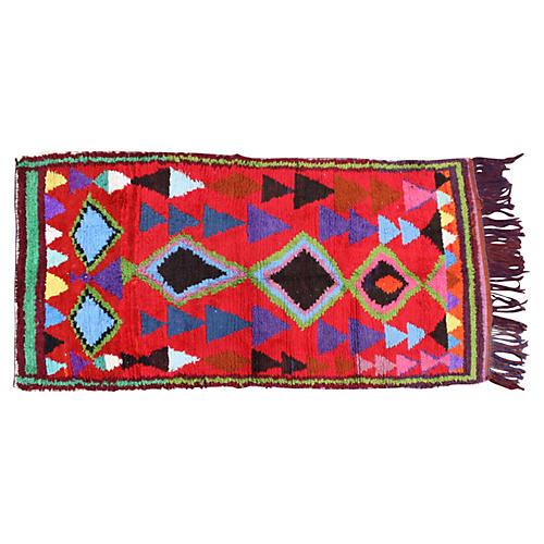 "Moroccan Rug, 7'6"" x 3'8"""