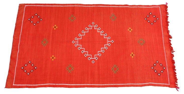 "Moroccan Cactus Silk  Rug,  6'4"" x 3'10"""