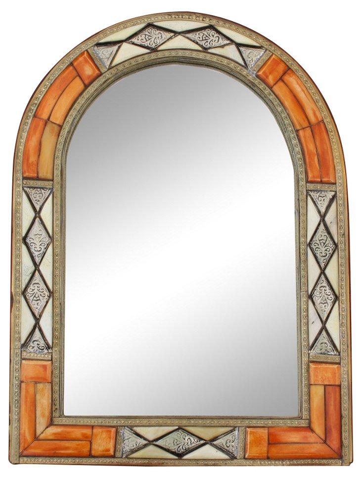 Moroccan Mirror w/   Engravings