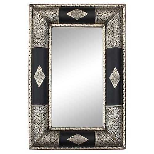 Mirror w/ Moorish Engravings