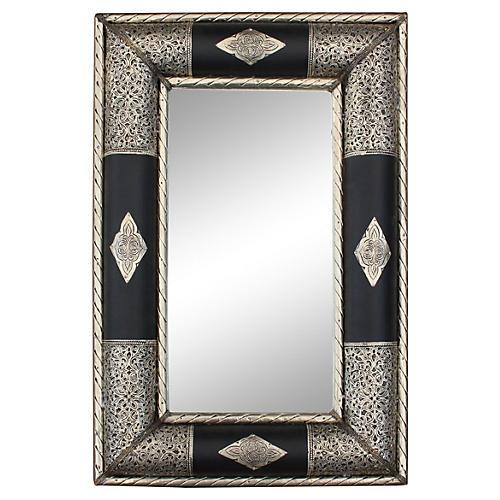 Mirror w/ Moorish Engravings