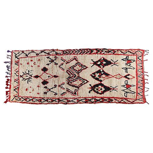 "Moroccan Rug, 3'3"" x 7'8"""