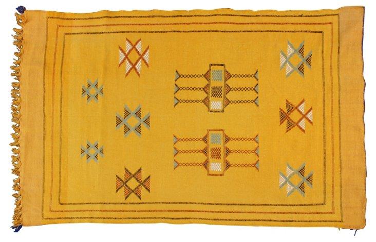 "Moroccan Rug, 4'7"" x    3'"