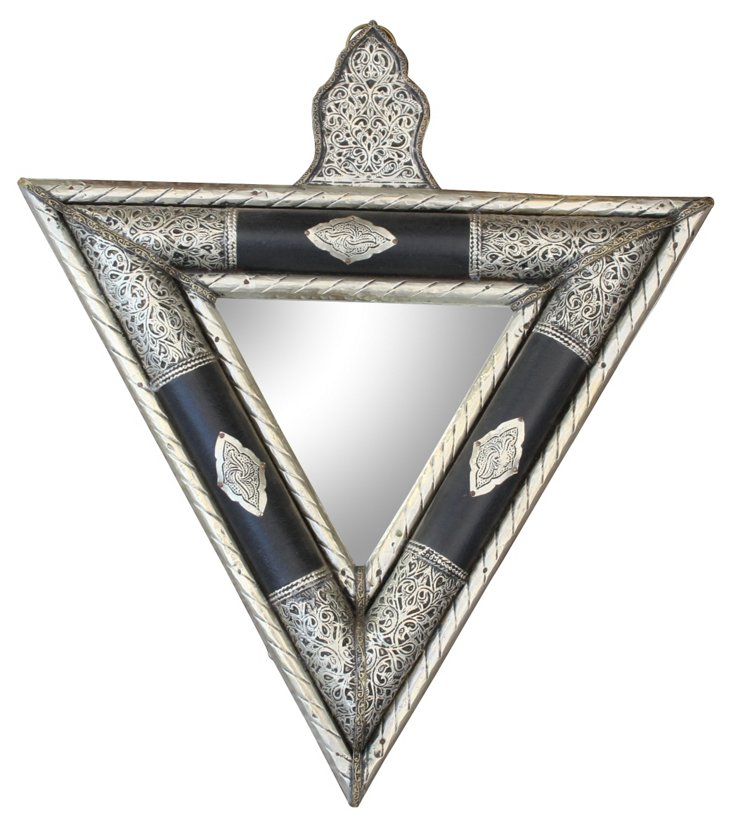 Moroccan Triangle Mirror w/ Engravings