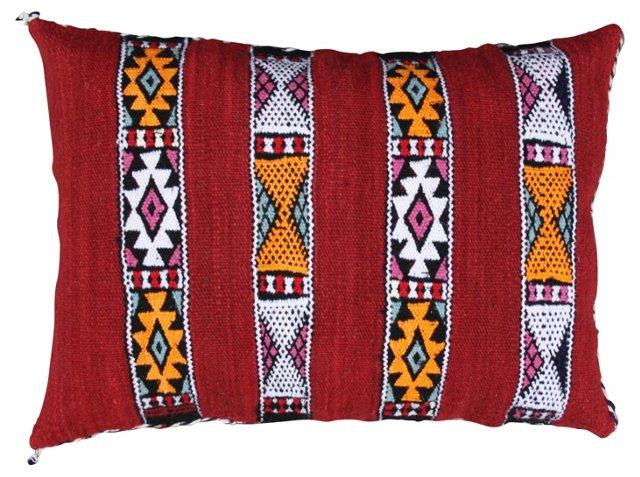 Red  Moroccan Sham