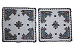 Embroidered  Moroccan  Shams, Pair