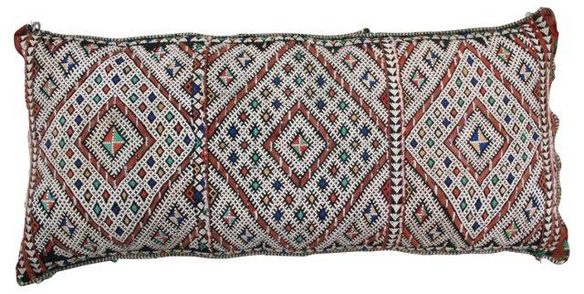 Moroccan  Sham w/ Berber  Pattern
