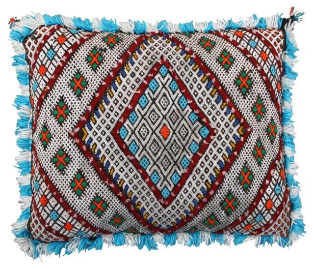 Moroccan Blue Sham w/ Berber Motifs