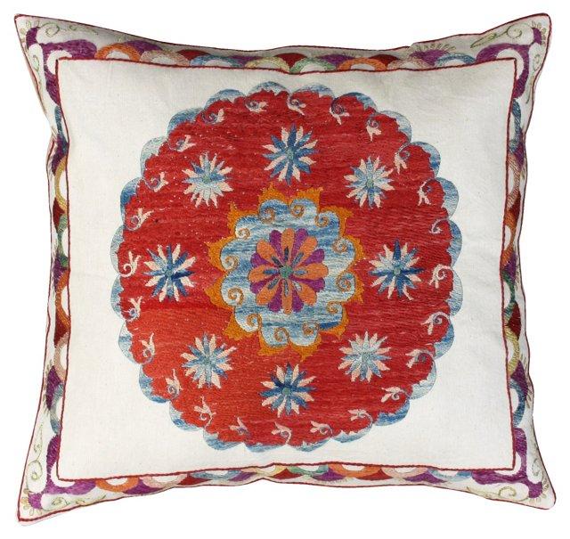 Silk-Embroidered Uzbek Sham