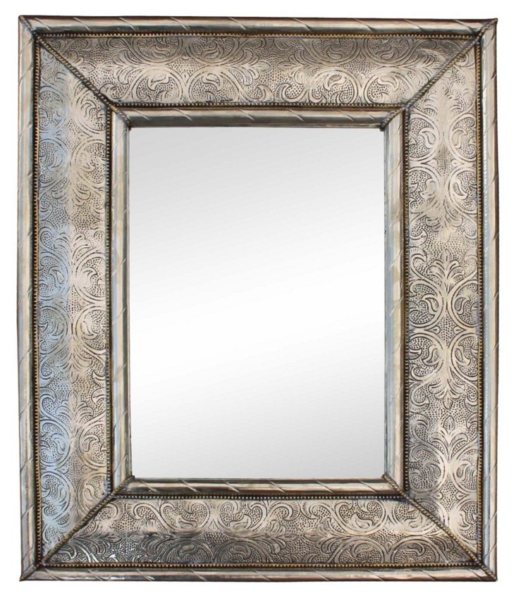 Hand-Engraved Metal  Mirror