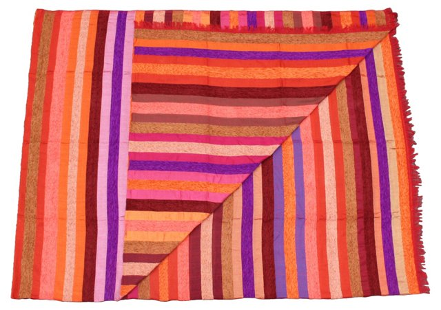Moroccan Striped Silk Throw
