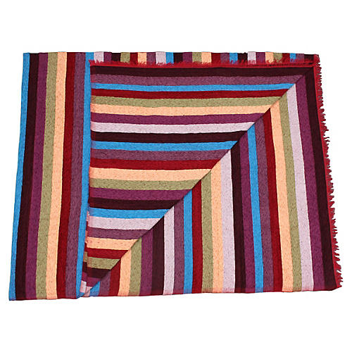 Moroccan  Handwoven Silk Throw