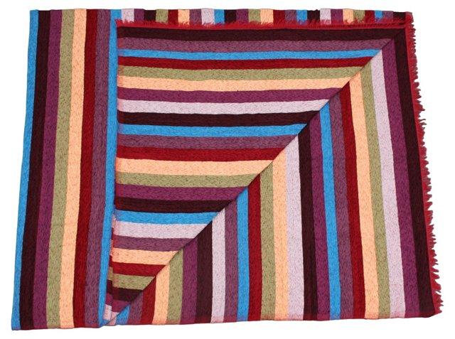 Moroccan  Handwoven Silk Throw