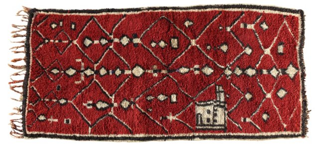 Moroccan Rug, 7'6'' x 3'8''