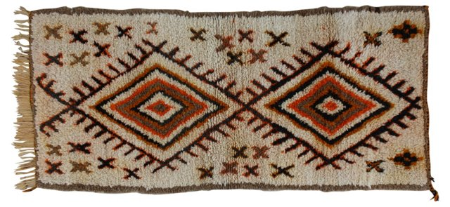 Moroccan Rug, 6'9'' x 3'1''