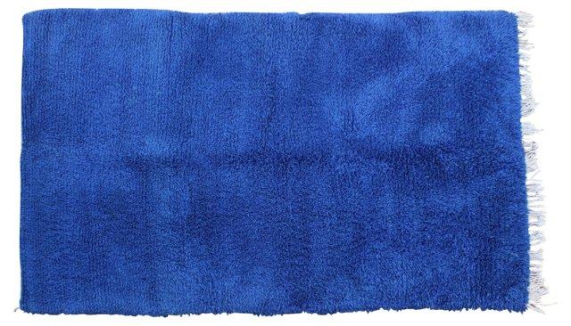 Cobalt Blue Moroccan Rug, 8'8'' x 5'4''