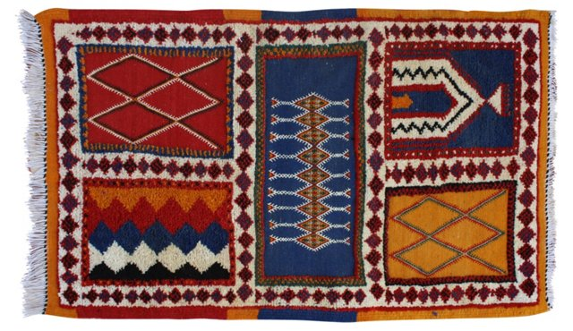 Moroccan Rug, 3'9'' x 2'4''