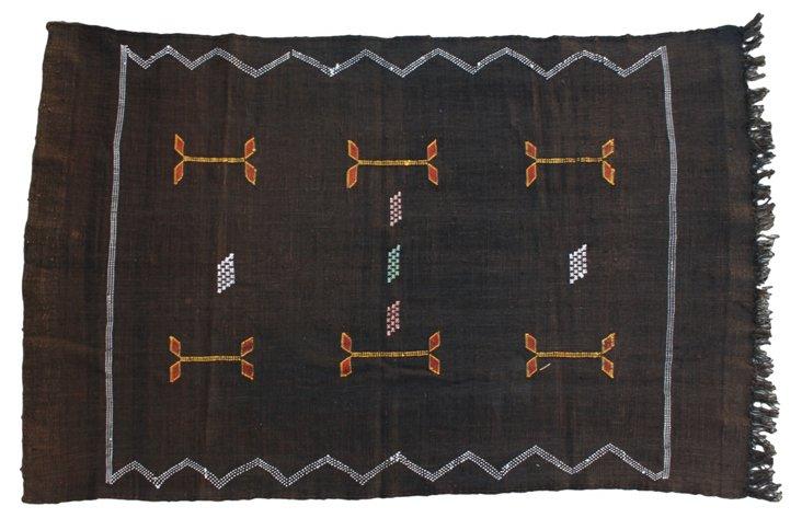 Moroccan Cactus Silk Rug, 4'8'' x  3'2''