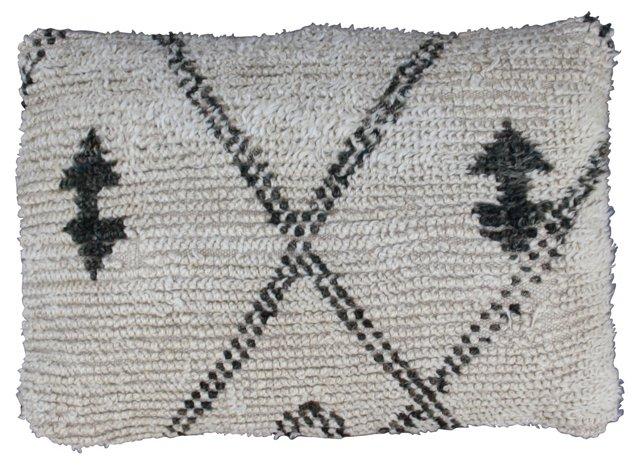 Moroccan Beni Ourain  Sham w/ X Pattern