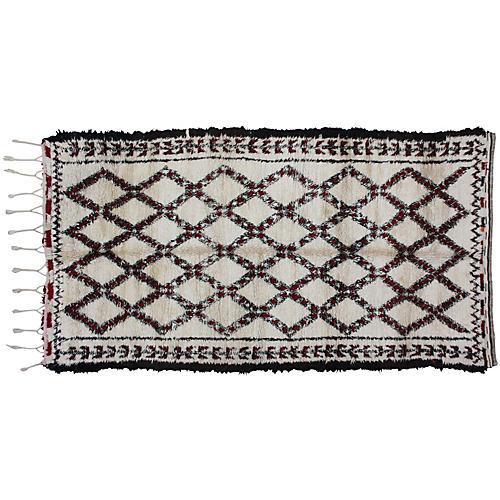 Moroccan Beni Ourain Rug, 11'7'' x 6'9''