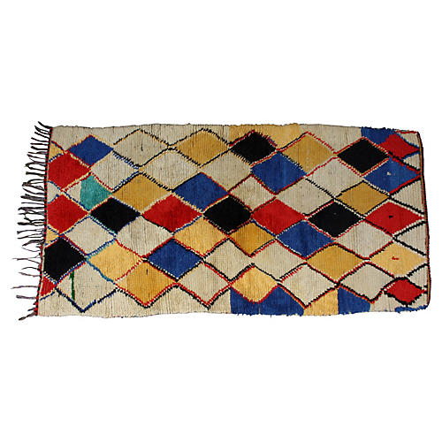 Moroccan Rug, 6' x 3'