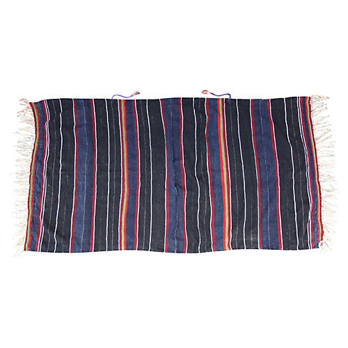 Moroccan Multi-Stripe Berber Throw