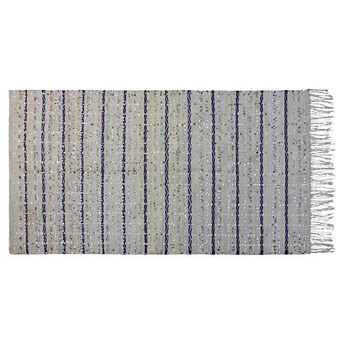 Moroccan Handira w/ Blue Stripes