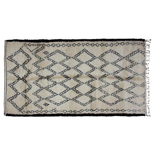 Moroccan Beni Ourain Rug, 12' x 6'5''