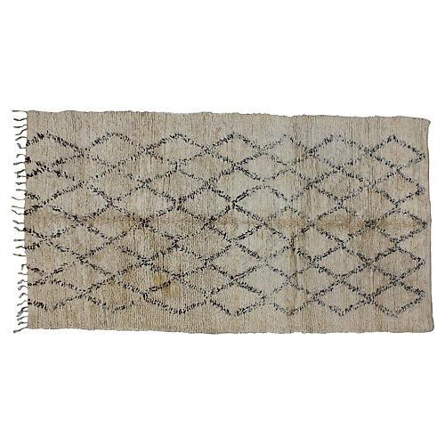 Moroccan Beni Ourain Rug, 6'1'' x 11'