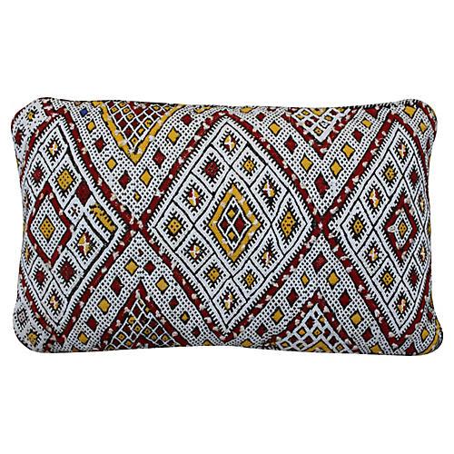 Moroccan Sham w/ Striking Berber Pattern