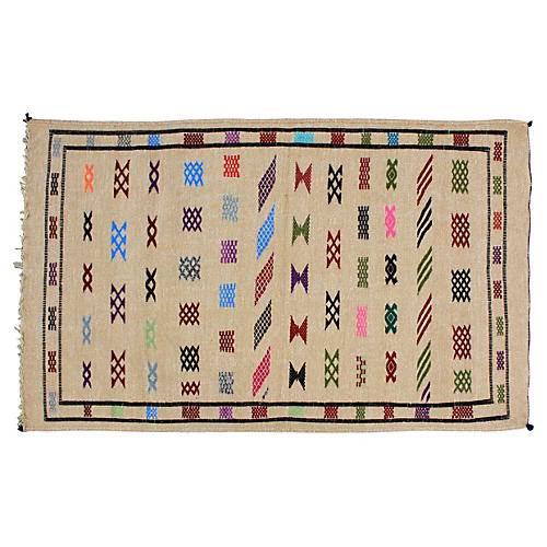 Moroccan Cactus Silk Rug, 4'9'' x 3'